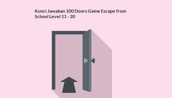 Kunci Jawaban 100 Doors Game Escape from School Level 11 - 20